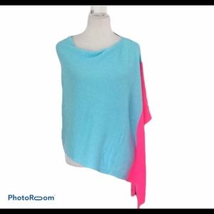 Lilly Pulitzer Wrap  Poncho Cape Hot Pink /Blue